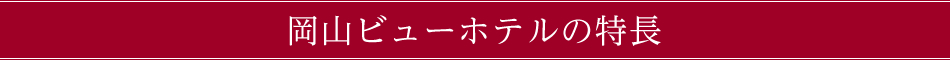 岡山ビューホテルの特長